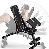 OESFL Banc de Musculation Multifonctions Pliable Exercice avec des Positions réglables, for l'entraînement de Musculation de Base Entraînement Entraînement Jambe Exercice Sit Up Push Up