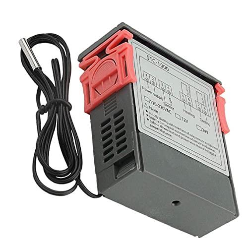 LAANCOO Temperatura Controlador de Pantalla Digital STC-1000 microordenador Digital 12V Controlador de Temperatura