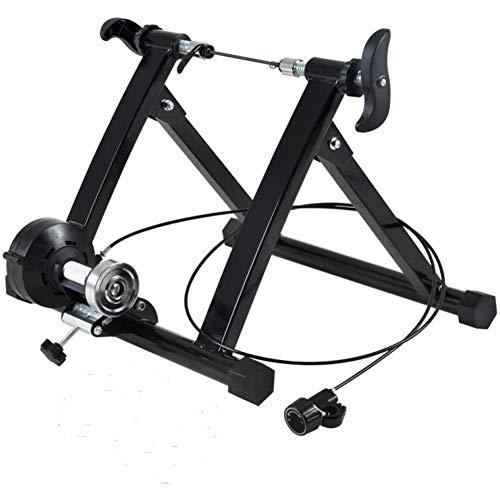 KFMJF Cavalletto Magnetico per Bici da Allenamento per Interno, Allenatore A Rulli per Bicicletta per Allenamento Ciclistico A Casa,Nero