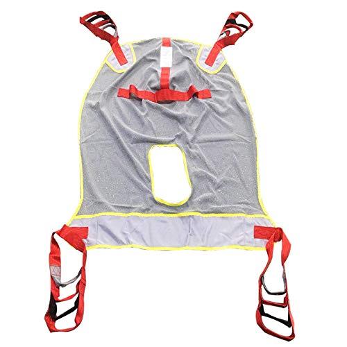 Tauzveok Toileting Sling Patientenlift, leicht zu trocknen, Breathable Sling Bag, Lift Zubehör, Vom Bett in den Rollstuhl, Liege, Stuhl für die Dusche oder WC,Rot