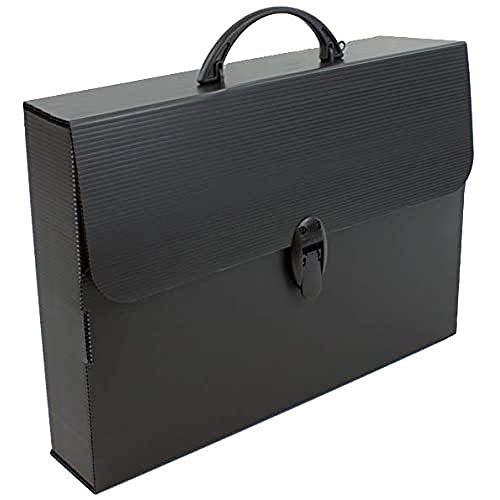 BALMAR 2000 PF14254TB Valigetta Every Line Total Black 254/P, Formato 27 x 37.5 x 8 cm in Polionda Nero con Accessori Nero