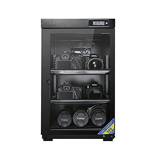 Armadio di essiccazione con essiccante per telecamera, scatola resistente all'umidità a risparmio energetico da 60L / 80L, scatola per strumenti da laboratorio, carico del ripiano regolabile 10-1