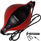 Delaspe - Palla a doppia estremità con pompa, palla da boxe, per allenamento di velocità, per allenamento in palestra, agilità