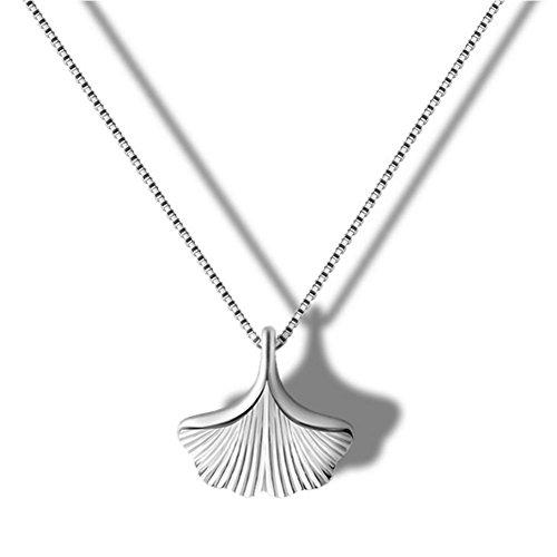 Helen de Lete Halskette Ginkgo-Blatt Sterling-Silber 925