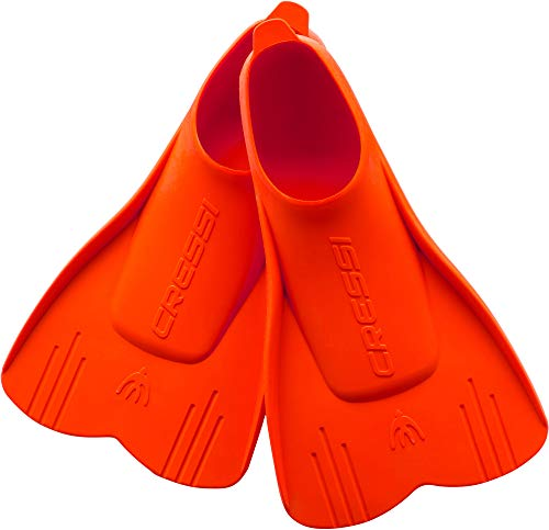 Cressi Mini Light Fins, Pinne Corte per Snorkeling e Nuoto Unisex Bambini, Rosso, 25/28
