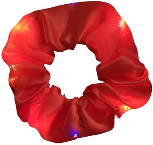 GPMYYBD Gomas para El Cabello con Luz LED - Diadema Brillante para El Cabello, Bandas Elásticas para El Cabello para Niñas, Gomas para El Cabello Elásticas Luminosas para Mujeres (A)