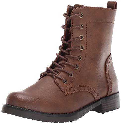 Amazon Essentials Women's Collins Combat Boot, Cognac, 6.5 B US