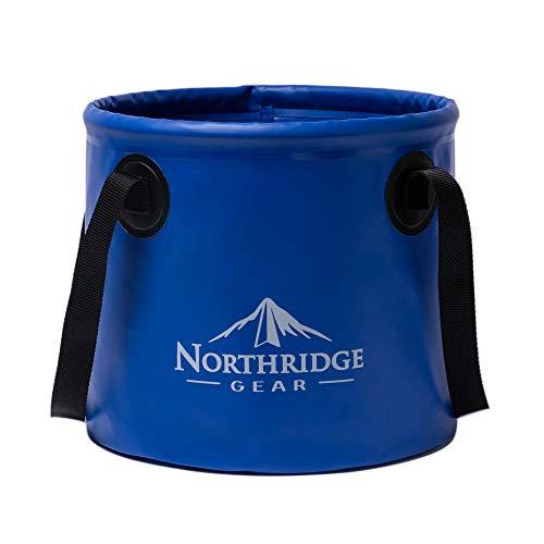 Cuvette pliante, seau pliable 15 L | pour le camping, la pêche, les randonnées, la plage et le jardin | utilisable comme bac pliable pour laver le linge et la vaisselle ou comme bac a eau