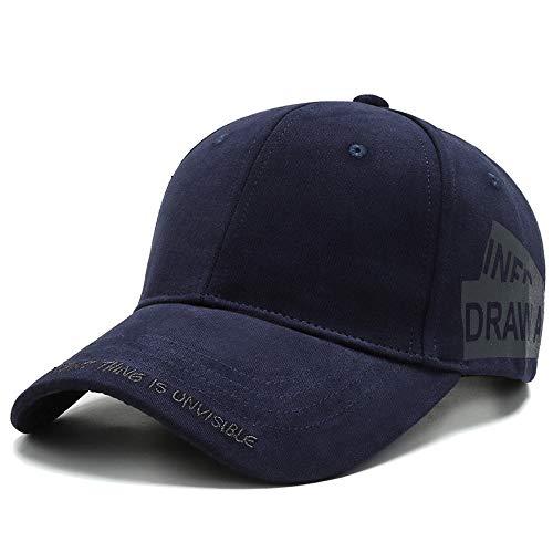 Unisex Sports Cap gewaschener Baumwolle Baseball Cap Men & Women Casual Adjustable Außen Trucker Hysteresen-Hut,Blau