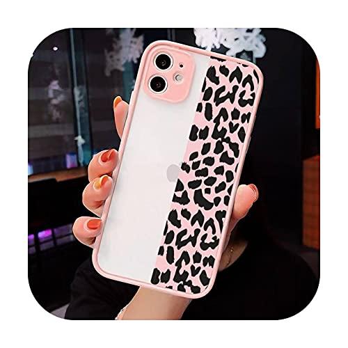 Moda Hermoso Leopardo Impresión Teléfono Casos Mate Transparente Para Iphone 12 Mini 11 Pro XR XS Max 7 8 Plus X Contraporte-a12-iPhone11