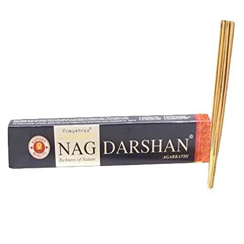 Varillas de incienso auténticas de Vijayshree Golden Nag Champa con fragancia para el hogar, juego de 1 (caja de 12 palos)
