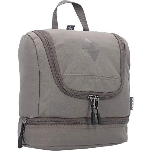 Travel Kit stylische Reisewaschtasche mit extra Bodenfach Kulturbeutel zum Aufhängen Kosmetiktasche mit vielen Staufächern für Reisen und Campen Toiletry Bag, 25x24x11 cm, Waxed Lizard