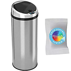iTouchless Automatic Touchless Sensor Kitchen Trash Can-best touchless trash can