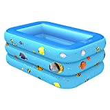 YYGQING 3layers Inflable Piscina bañera bañera casa al Aire Libre Grande Piscina Inflable Plaza Piscina Piscina (Color : B)