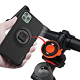 SinceTop Bicycle Phone Mount with Shockproof Case For iPhone 11 Pro,Motorcycle Handlebars Cell Phone Holder Built Quick Mount 360 Rotation Adjustable Stand,Mountain Road Bike Cycling Kit iPhone 11 Pro