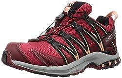 Salomon Damen Trailrunning-Schuhe, XA PRO 3D GTX W, Farbe: Rot (Deep Claret/Syrah/Coral Almond), Größe: 44