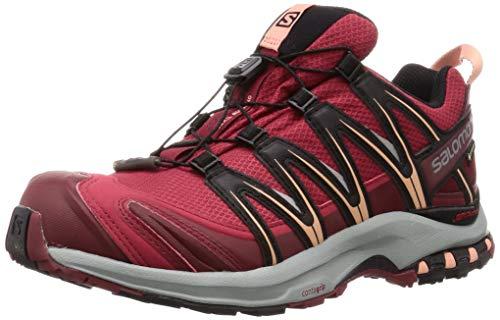 Salomon Damen Trailrunning-Schuhe, XA PRO 3D GTX W, Farbe: Rot (Deep Claret/Syrah/Coral Almond), Größe: 45 1/3