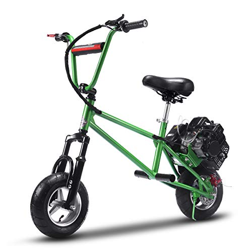 TOXOZERS 49cc Gas Mini Bike with Two Stroke , 2-Stroke Gas Scooter (Green)