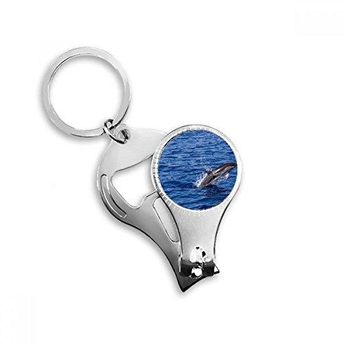 Océano Agua Luz Killer Whale naturaleza imagen Metal clave cadena anillo multifunción Nail Clippers abrebotellas llavero de coche mejor encanto regalo