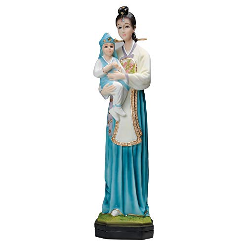 "Coreano Madonna con niño Estatua 16""Onyx"