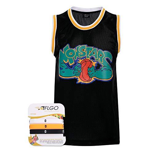 AFLGO Monstars #0 Space Jam Stitched Basketball Jersey (Medium, Black)