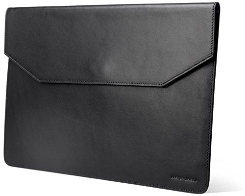 Kasper Maison 12 inch Premium Leather Laptop Sleeve for MacBook - Black