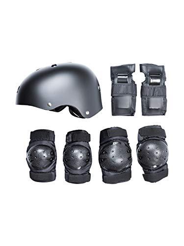 Two Bare Feet Kit de protection pour skateboard scooter BMX, Enfant Homme Femme, Noir , moyen