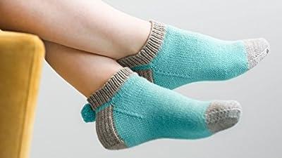 Knitted Pom Pom Socks from Creativebug