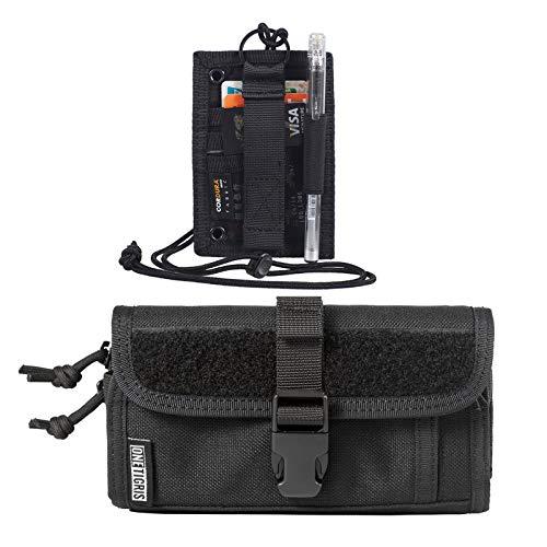 "OneTigris Tactical ID Card Holder Hook & Horizontal Zipper Phone Holster 07 for 2.25"" Belt (Black)"