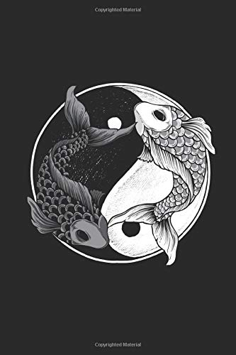 Koi Yin Yang: Animal Journal Gift Idea for Girls and Boys - Blank Lined Notebook