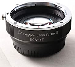 Zhongyi Focal Reducer Speed Booster Lens Turbo II Adapter for Canon EOS EF Lens to Fujifilm X Mount APS-C Camera