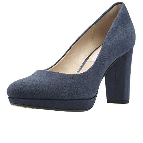 Clarks Kendra Sienna, Zapatos de Tacón Mujer, Azul (Navy Suede), 39.5 EU (Zapatos)