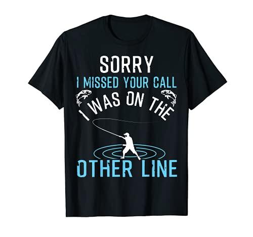 caña de pescar postes equipo llamada engranaje línea de lanzamiento tee Camiseta