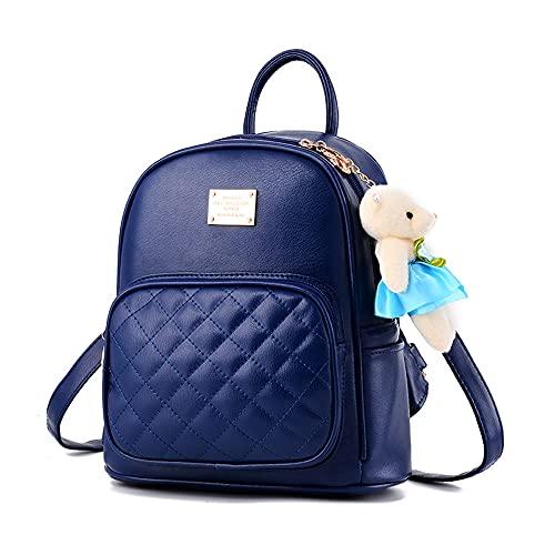 BESIDE STAR Piccolo zaino per le donne Carino impermeabile donne zaino borsa delle ragazze dei bagagli in pelle Mini zaino Bookbag borsa bianca