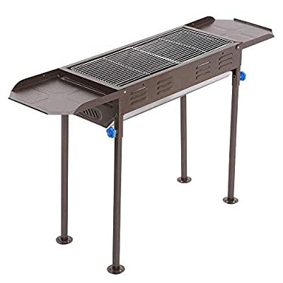 Stainless Steel Portable Charcoal Grill Folding BBQ Camping Grill Large Travel Grill for Camping, Picnic, Outdoor