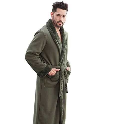 Hoolnb winterjas voor heren, koraal, fluweel, paar, pyjama, groot formaat en mannen in de herfst, wat dikker is