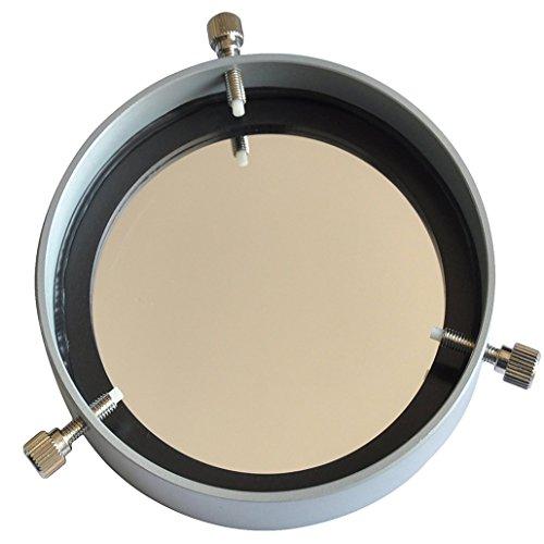 Gosky regolabile filtro solare (argento)–81–113mm filtro solare in alluminio regolabile Baader membrane 5. 0copriobiettivo Planetarium Solar pellicola di sicurezza