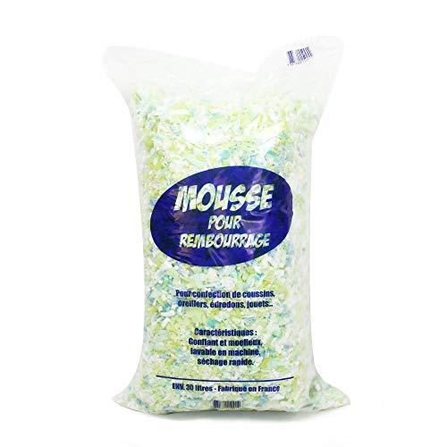 Linnea Copos de espuma de poliuretano para rellenar textiles, bolsa de 30 l