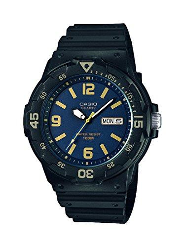 Casio Collection Herren-Armbanduhr MRW-200H-2B3VEF, schwarz/Blau/Gold
