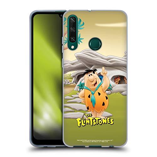 Head Case Designs Licenciado Oficialmente The Flintstones Fred Picapiedra Personajes Carcasa de Gel de Silicona Compatible con Huawei Y6p