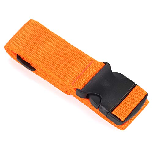 Trintion Heavy Duty Luggage Straps Suitcase Travel Belts Adjustable Bag Strap with Buckle Closure for Suitcases Packing Belts(Orange)