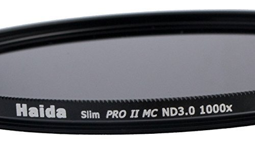 HAIDA Slim Graufilter PRO II MC (mehrschichtvergütet) ND3.0 (1000x) 82mm. Schlanke Fassung + Cap mit Innengriff