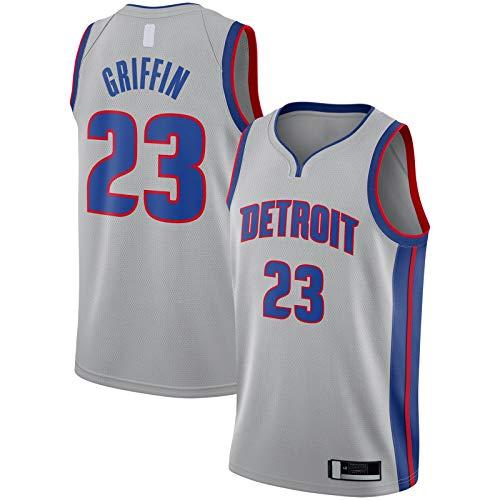 OYFFL Blake - Camiseta de baloncesto para hombre Griffin Detroit Top sin mangas Pistones Bordado #23 Replica Swingman Jersey Plata - Declaración Edition-S