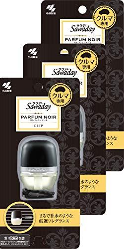【まとめ買い】サワデー 車用消臭芳香剤 クリップタイプ パルファムノアールの香り 6ml ×3個