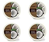 Delon Intense Moisturizing Body Butter- 6.9 Oz (Coconut) (4-Pack)