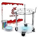Little Dragon® Mesa de shisha con LED – Resistente y duradera de acrílico de alta calidad con 3 soportes para manguera y base LED