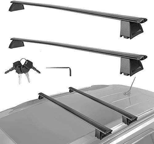 MOSTPLUS Roof Rack Cross Bar Luggage Rack Compatible for Jeep Grand Cherokee with Side Rails 2011 2012 2013 2014 2015 2016 2017 2018 2019 2020 (Not fit SRT & Altitude Models) Anti-Theft Design -  M35002