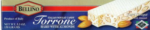 Bellino Torrone (Hard Nougat) with Almonds, 5.3-Ounce Bars (Pack of 3)