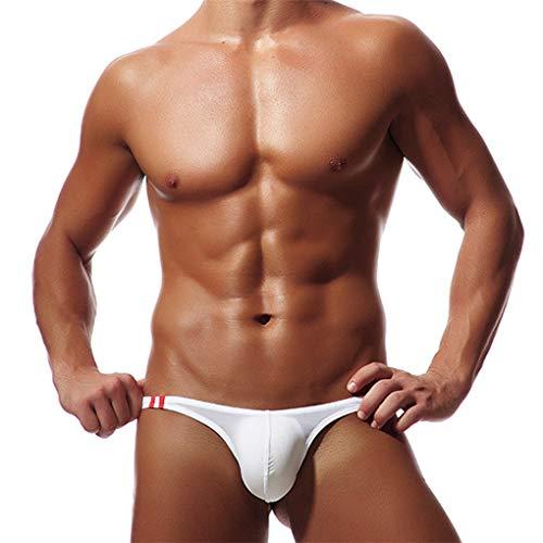Tanga Mini für Herren/Skxinn String Slip Dessous Lingerie Thong Underwear Sexy Soft Bikini Underpants Bademode Unterwäsche Unterhosen Höschen für Männer L-2XL Reduzier(Weiß,XX-Large)