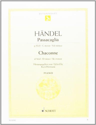 Passacaille sol min./Chaconne ré min. - Piano